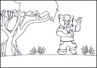 Ausmalbild Tobi im Dschungel