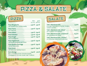 Speisekarte Pizza & Salate
